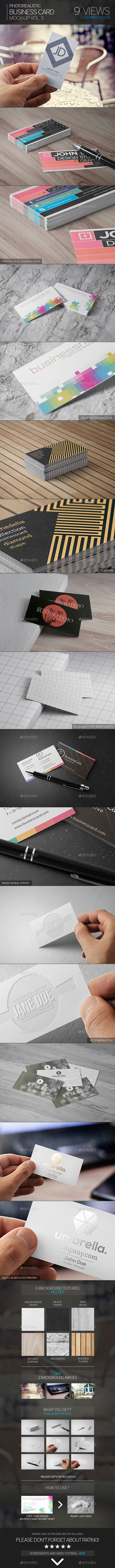 Photorealistic Business Card Mock-Up Vol.3