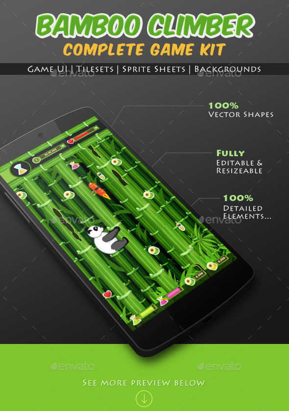 GraphicRiver Bamboo Climber Panda Game Kit 9121149