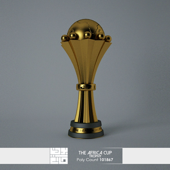 3DOcean The African Cup Trophy 3D Model 9121177