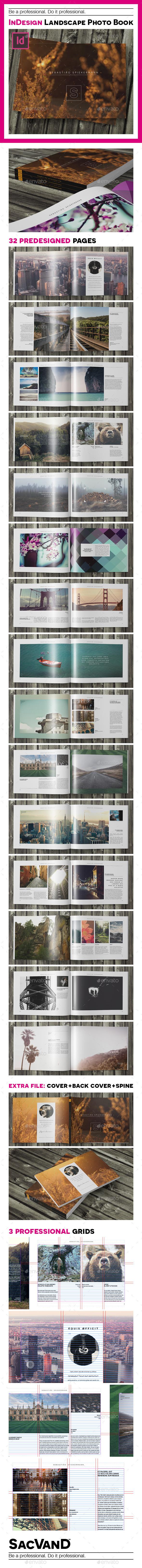 GraphicRiver Indesign landscape photo book template 9121284