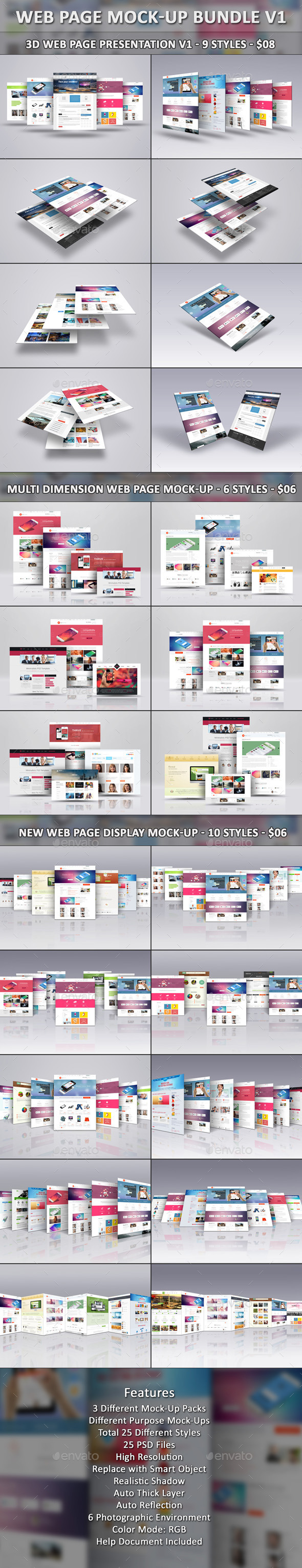 Web Page Mock-Up Bundle V1