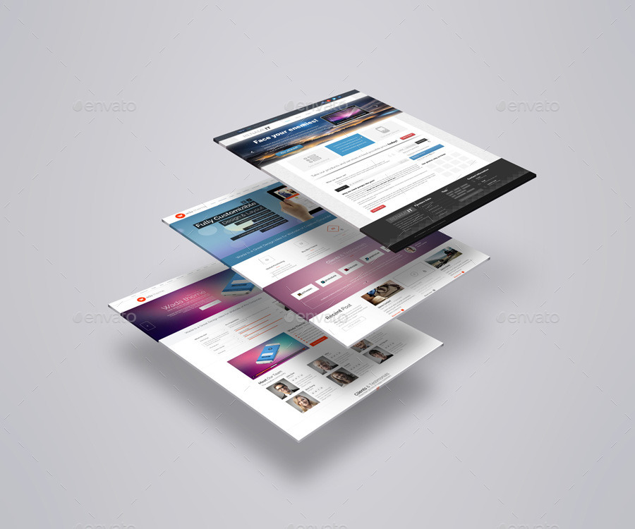 Web Page Mock-Up Bundle V1 by towhid123griver | GraphicRiver