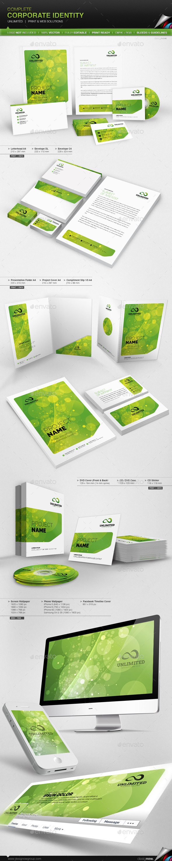 GraphicRiver Corporate Identity Unlimited 9121327