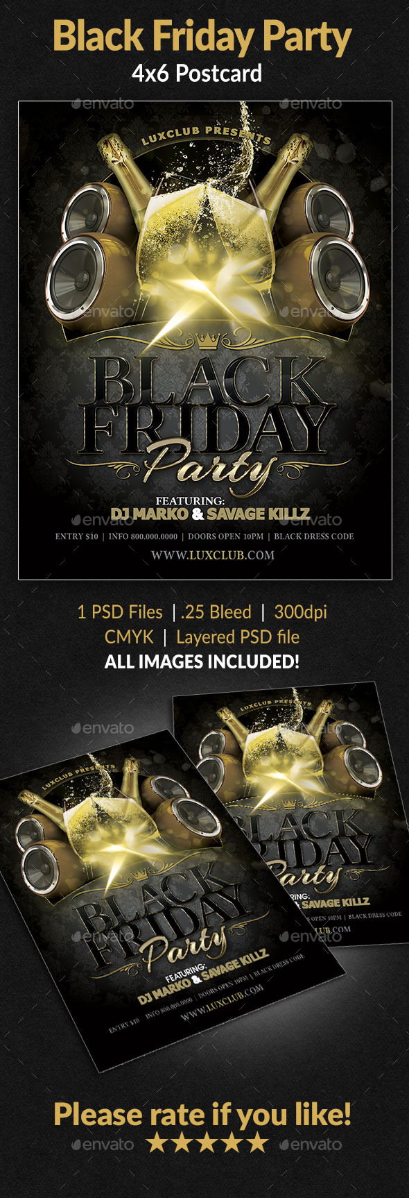 GraphicRiver Black Friday Party Flyer 9121654