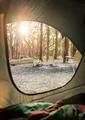 Camping Sunrise Through Tent - PhotoDune Item for Sale