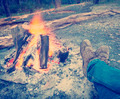 Warming Feet by Campfire Instagram Style - PhotoDune Item for Sale