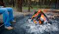 Warming Feet by Campfire - PhotoDune Item for Sale