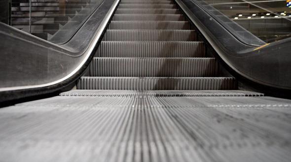 Escalator Running Up