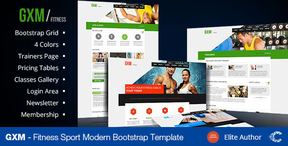 GXM - Gym/Fitness Club PSD Theme - Health & Beauty Retail