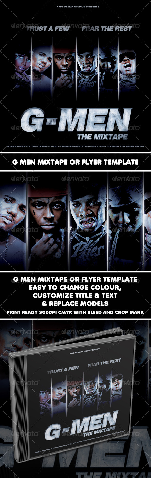 GraphicRiver G Men Mixtape or Flyer Template 933187