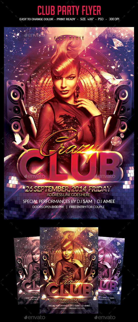 GraphicRiver Club Party Flyer 9121983
