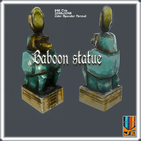 Statue of Baboon God - 3DOcean Item for Sale