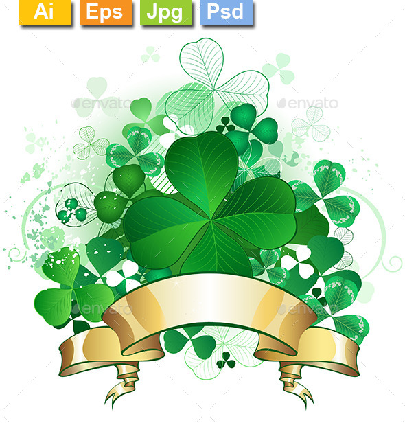GraphicRiver Clover with Banner 9122095