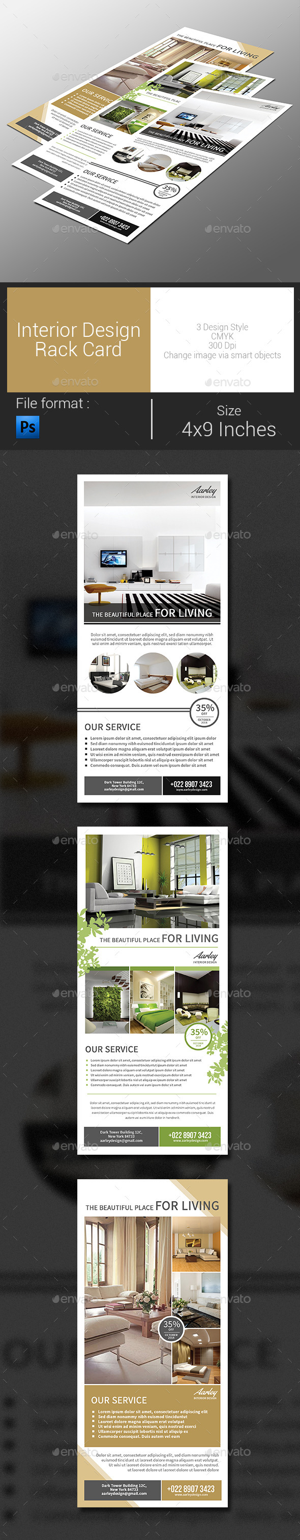 GraphicRiver Interior Design Rack Card 9098907