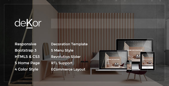 ThemeForest deKor Responsive Interior HTML Template 9122276