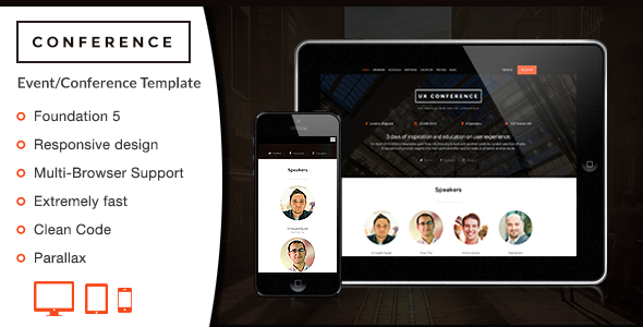 ThemeForest Conference HTML Template 9059578