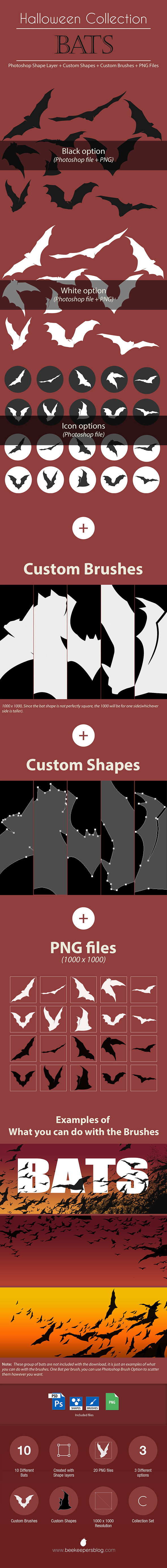 GraphicRiver Halloween Collection Bats 9122363