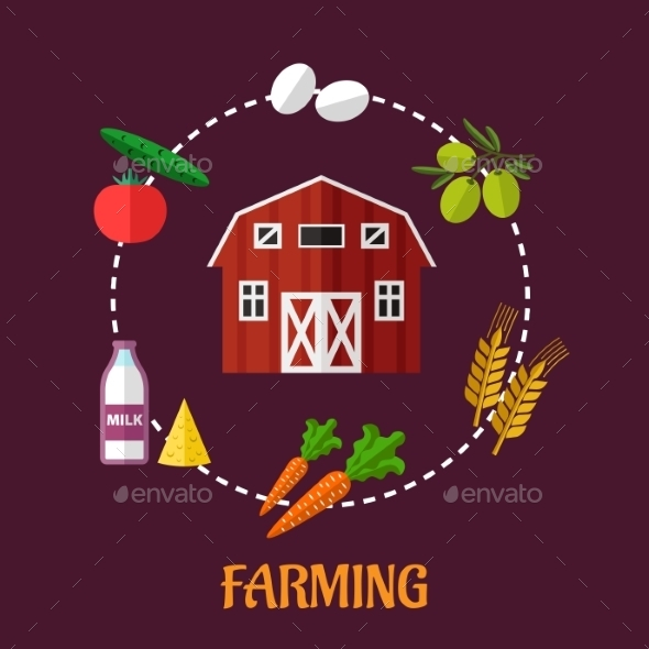 GraphicRiver Farming Infographic Showing Various Crops 9122370