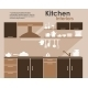 Kitchen Interior Flat Infographic - GraphicRiver Item for Sale