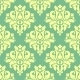 Floral Yellow Damask Seamless Pattern - GraphicRiver Item for Sale