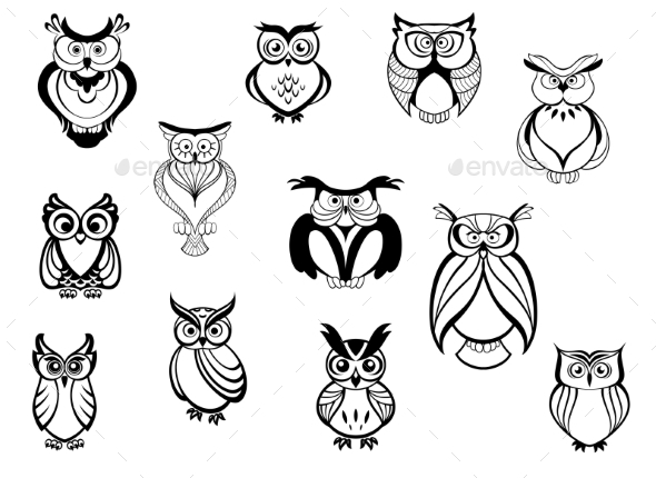 GraphicRiver Owls and Owlets 9122380
