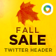 Fall Sale Twitter Header - GraphicRiver Item for Sale