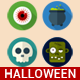 Halloween Flat Icons Set - GraphicRiver Item for Sale