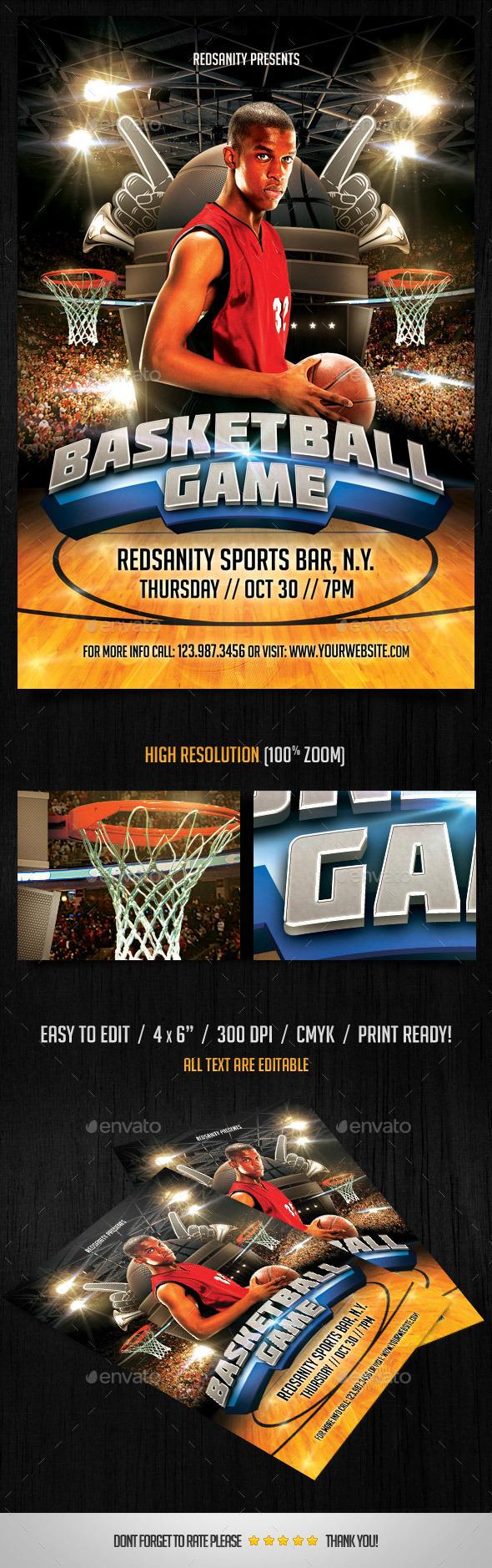 GraphicRiver Basketball Game Flyer 9122590