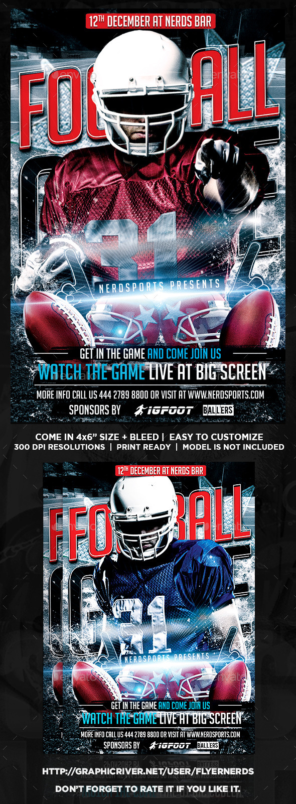 GraphicRiver Football Game Flyer 9122764