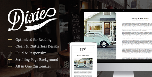 ThemeForest Dixie A Responsive WordPress Blog Theme 9089982