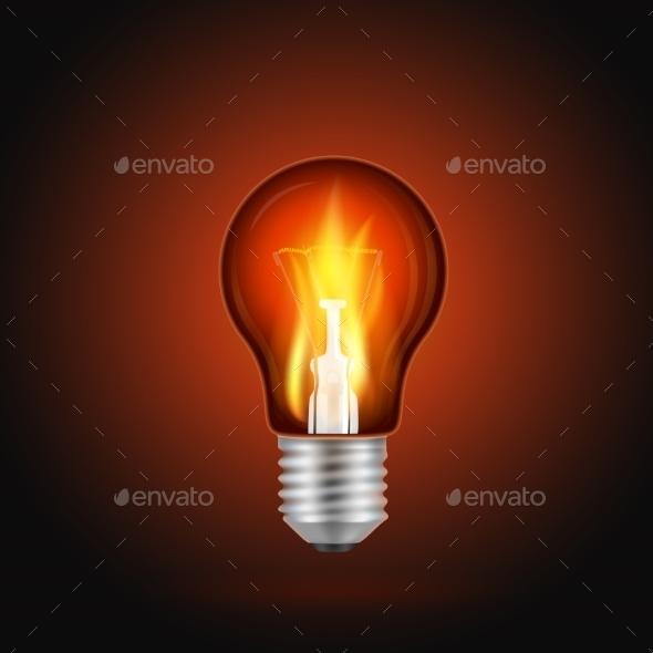 GraphicRiver Fire in Light Bulb 9123248