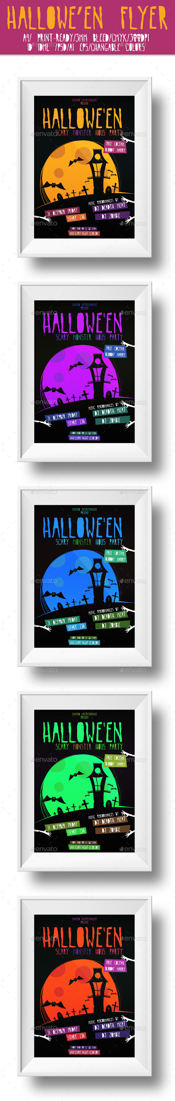 GraphicRiver Halloween Flyer 9123252