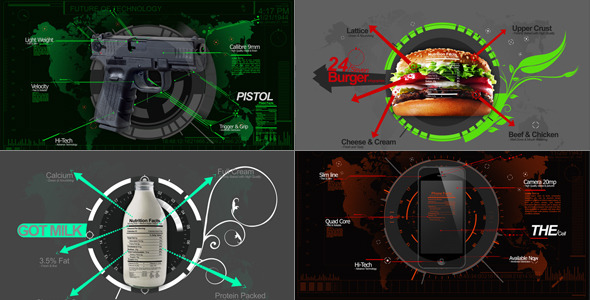 AE模板-企业信息图表数据图形医疗餐厅广告宣传模板Infographics Mix免费下载
