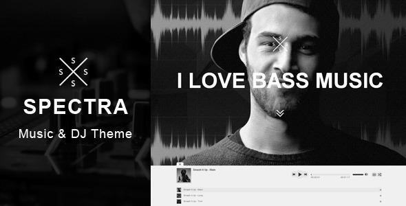 Spectra - Responsive DJ & Music Theme