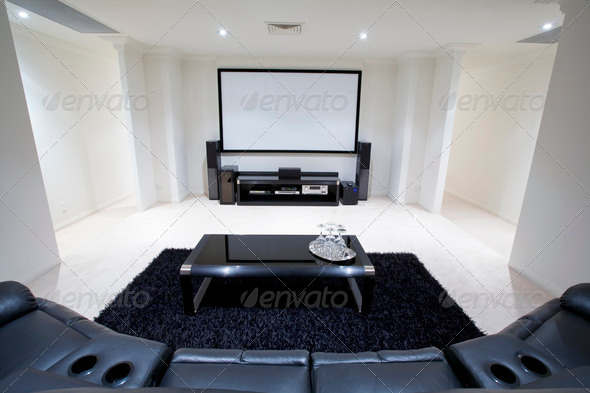 Home Theatre Room - Stock Photo - Images
