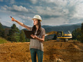 female engineer on construction site - PhotoDune Item for Sale
