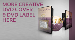 Wedding DVD Cover and DVD Label Template Vol.5