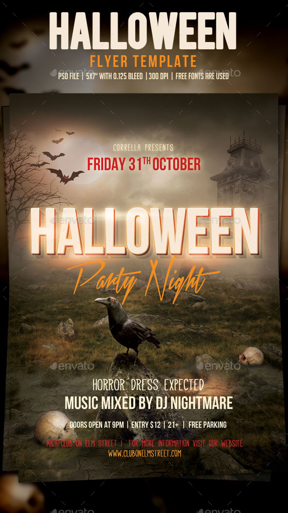 GraphicRiver Halloween Party Flyer 9124999