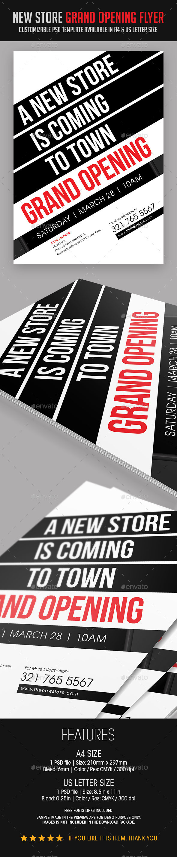 GraphicRiver New Store Grand Opening Flyer 9125719