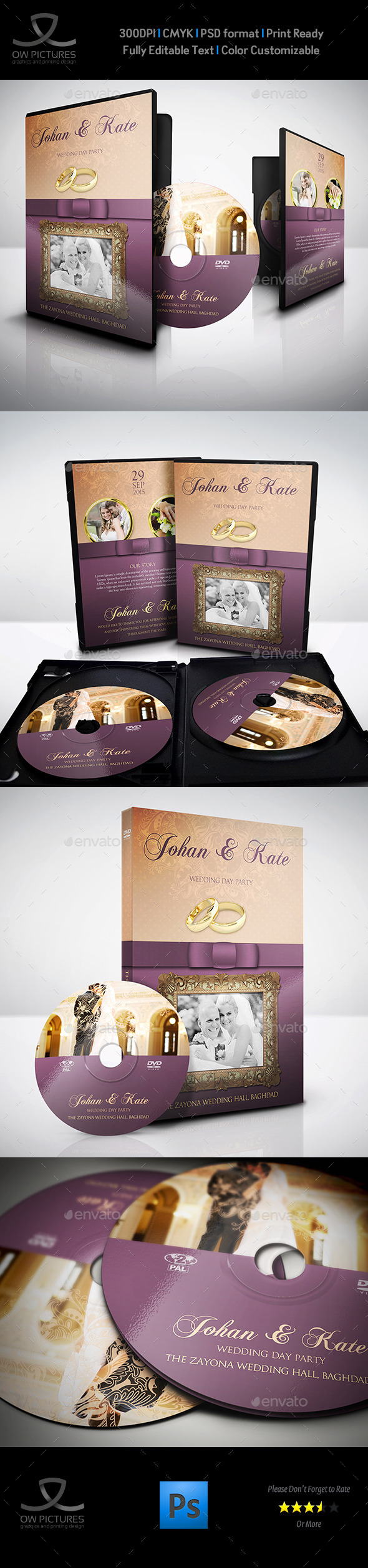GraphicRiver Wedding DVD Cover and DVD Label Template 9107484