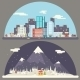 Winter Snow Urban Countryside Landscape City - GraphicRiver Item for Sale
