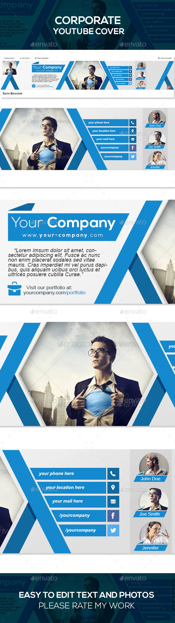 GraphicRiver Corporate Youtube Banner Template 9126889
