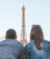 Couple Looking to the Eiffel Tower  - PhotoDune Item for Sale
