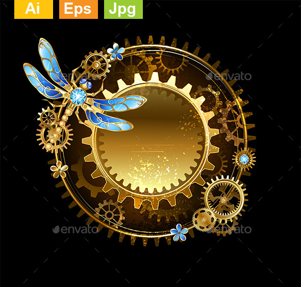 GraphicRiver Banner with a Dragonfly 9115540