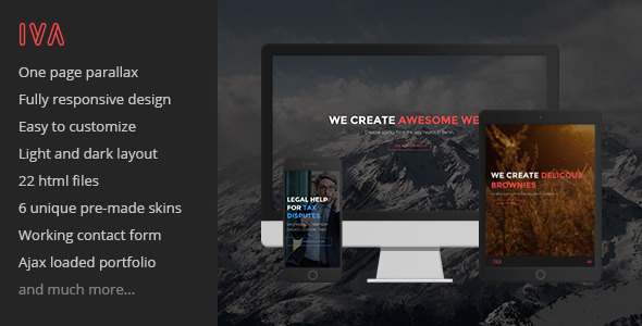 ThemeForest Iva Retina One-Page Parallax Theme 9127156