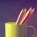 Pencils on the green cup - PhotoDune Item for Sale