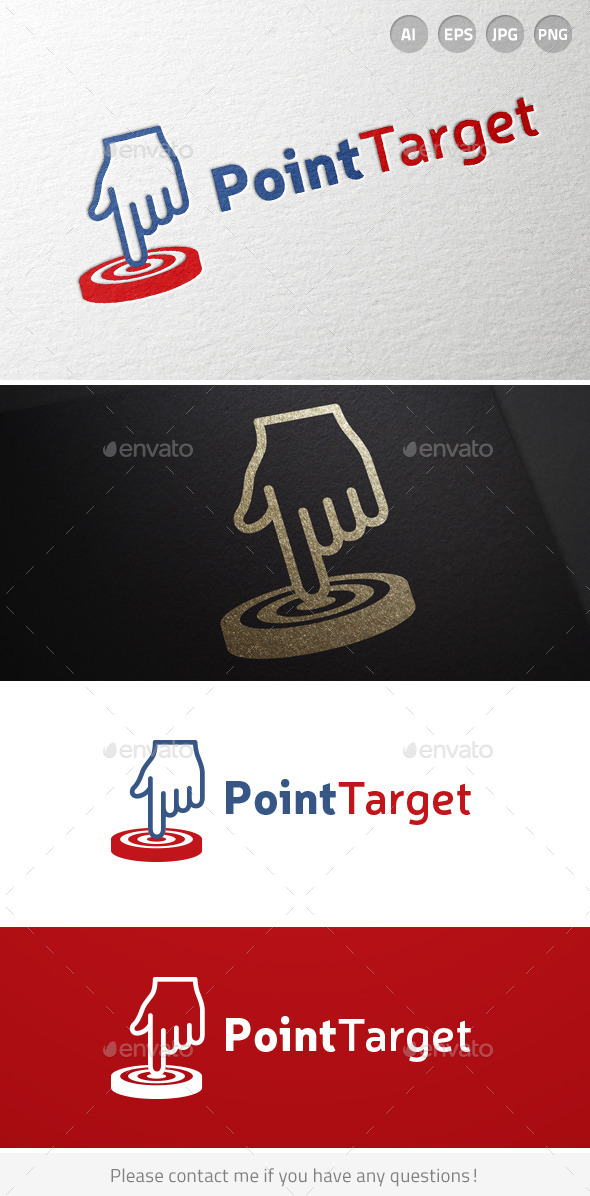 GraphicRiver Point Target Hand Logo 6926460