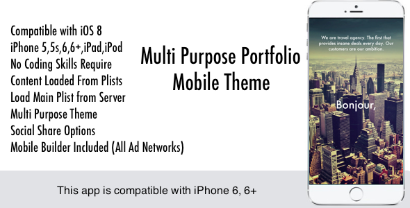 CodeCanyon Multi Purpose Mobile Theme 9127556