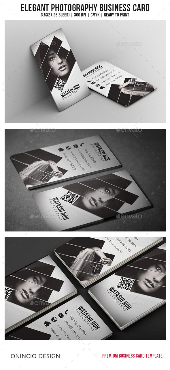 GraphicRiver Elegant Photography Business Card 9127766
