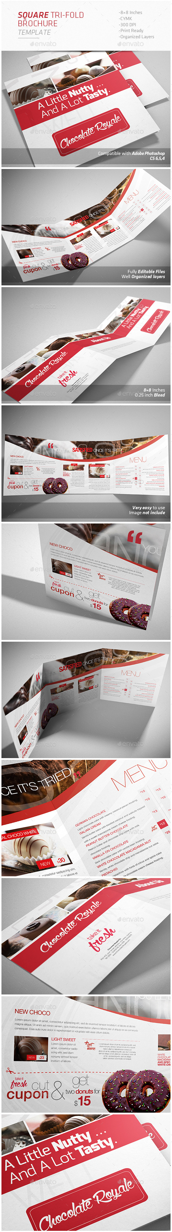 GraphicRiver Square Tri-fold Brochure 9128034